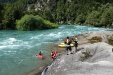 Wildwasserkanu, Rafting