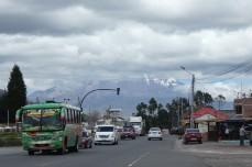 Chimborazo Ecuador -natürlich in Wolken